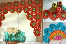 DIY Flower Power Valance / Curtains