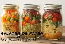 salade ( dans un pot Masson pour apporté )