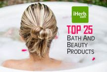 Top 25 ~ Bath and Beauty / Top 25 Best Selling Bath and Beauty Products on iHerb (http://www.iherb.com/Bath-Beauty) ~ New Customers can use Rewards Code PNT999 to get $10 off of a $40 minimum purchase or $5 off first time orders of less than $40.  / by iHerb Inc