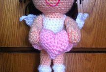 Angel girl crochet doll
