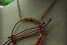 Fantastic Fibers / Jewelry ideas with wool, silk, cords and other fibers.