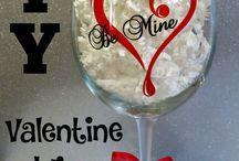 Valentines glitter glasses