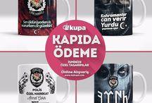 Türk Motifli Kupa Bardak