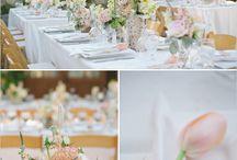 Unsere Hochzeit / Rosa, Grün, Weiß