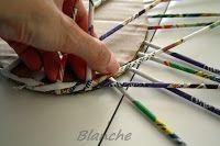 Pletení z papíru - Knitting paper / Hand made, recyklace