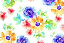 """""""Sundance"""" line of fabric from Exclusively Quilters / This summery line of fabric will get you ready to plant, week and enjoy the flowers of summer. / by Material Mart"""
