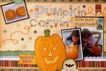 my fave pages ~ fall/halloween / Halloween, Easter, Fourth of July, Thanksgiving, etc ~ scrapbook page ideas / by Melissa Armstrong