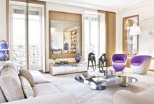 Suite parentale à Lyon / rénovation d'une suite parentale à Lyon : salon, chambre, dressing, salle de bains et salle de fitness.