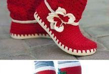 örgü botlar ve ayakkabılar