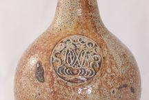 Antique Fulham London SaltGlaze Stoneware Bottles Pots Dwight Lambeth Etc