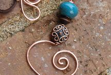 Polymer clay and metal wire