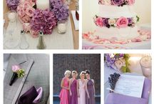Wedding in lavender and pink
