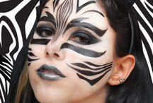 Maquillaje de zebra