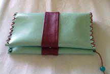 leather smoking bag