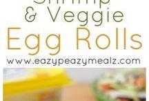 nems aux crevettes et légumes