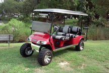 Red Ez Go Limo Custom Golf Cart