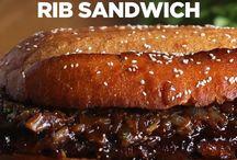BBQ szendvicsek