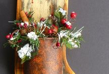 Christmas wood decor / by Angela Phillips