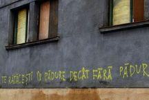 "mesaje / ""fara ca nimeni sa o vada / poezia a coborat in strada"""