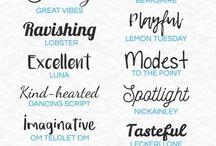 designs | fonts