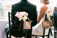 Mr and Mrs  / Rustic but elegant venue dressing ideas