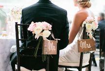 Mr and Mrs  / Rustic but elegant venue dressing ideas
