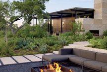 Garden fire place