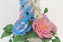 Romantikus csokor / #Szarkaláb, #pünkösd #rózsa és #szellő rózsa stb.... egy #csokorban :)