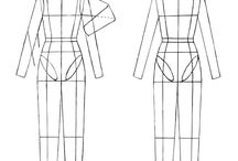 Technical drawing of clothes