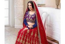 Red Lehengas Under Rs. 2999 at WhiteMango.in / Red Colour Designer Lehengas under the price of Rs. 2999
