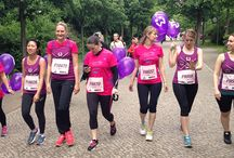 """Woogirls at the Women's Charity Run 2014 / The Woo-girls ran at the annual Women's Run on Saturday. They were raising money for """"Kolibri Berlin e.V"""" - an awesome charity that helps children dealing with cancer. For every 10 euros they raised, a purple balloon was set free! Find out more about Kolibri Berlin e.V here: https://www.facebook.com/pages/Kolibri-Berlin-eV/495884797160812"""