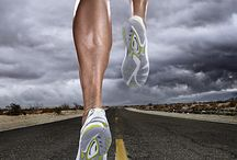 Le Running / the exercise or sport of someone who runs
