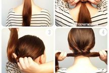 Hair DIY / Hair DIY ideas, hair beauty inspiration, updos and braids DIY and styling