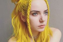 Yellow hair / Not as frequently explored as the likes of red or purple etc... I'm seeing more happening with yellow as the years go by and tints and fibers become more pigmented and diverse! A celebration of yellow hair.
