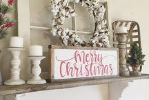 Christmas floating shelves