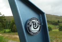 Sustrans Way markers  / These pieces are on route 78, Oban to Fortwilliam, in Western Scotland.