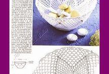 háčkované misky a košíčky