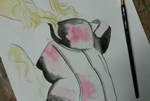 Burlesque drawings by Linda Brown © 2014 / Burlesque art from life