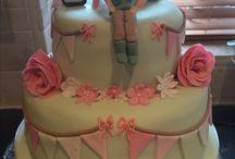 Bunting birthday cake / Bunting birthday cake