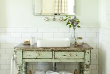 Bathrooms with Vintage and Salvage Style / Salvage Material that is used in Bathroom Interior Design