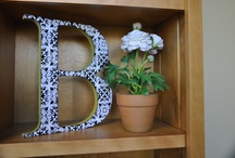 Wood Letters and Words / Inspirational words, and cute accents pieces all made from simple wood letters and words. / by Poppy Seed Projects {Poppy Seed Projects.com}