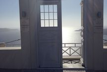 Honeymoon project- pretty doors of santorini. / Travel, doors, pretty.