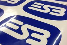 Q-Signs: Adhesives (including stickers) / Adhesives displaying logos or other graphics can be provided, precut, in small or large quantities. #stickers #Ireland