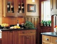 KITCHEN IDEAS / I would like ideas for remodeling a small 1980's galley style kitchen, please. I prefer medium-toned mission style cabinets, but open to other possibilities. Thanks! / by Chris Lewallen
