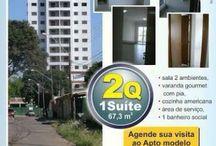 Coisas para comprar / Apartamento  67,3 m2  sendo 2 Quartos 1 Suite 1 vaga  Torre unica 15 andares  4 apto por andar 2 elevadores Entrega da obra novembro 2016