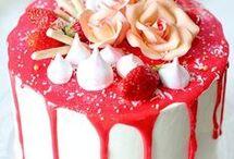 layer cake vanille fraise