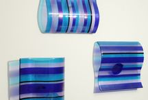 fused glass waves