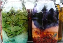 Natural plant dyeing