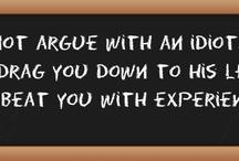 Quotes On A Blackboard / Quotes on a blackboard.