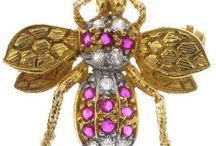 Wild Things / A selection of insect jewellery from an auction of Antique & Modern Jewellery on 18th June